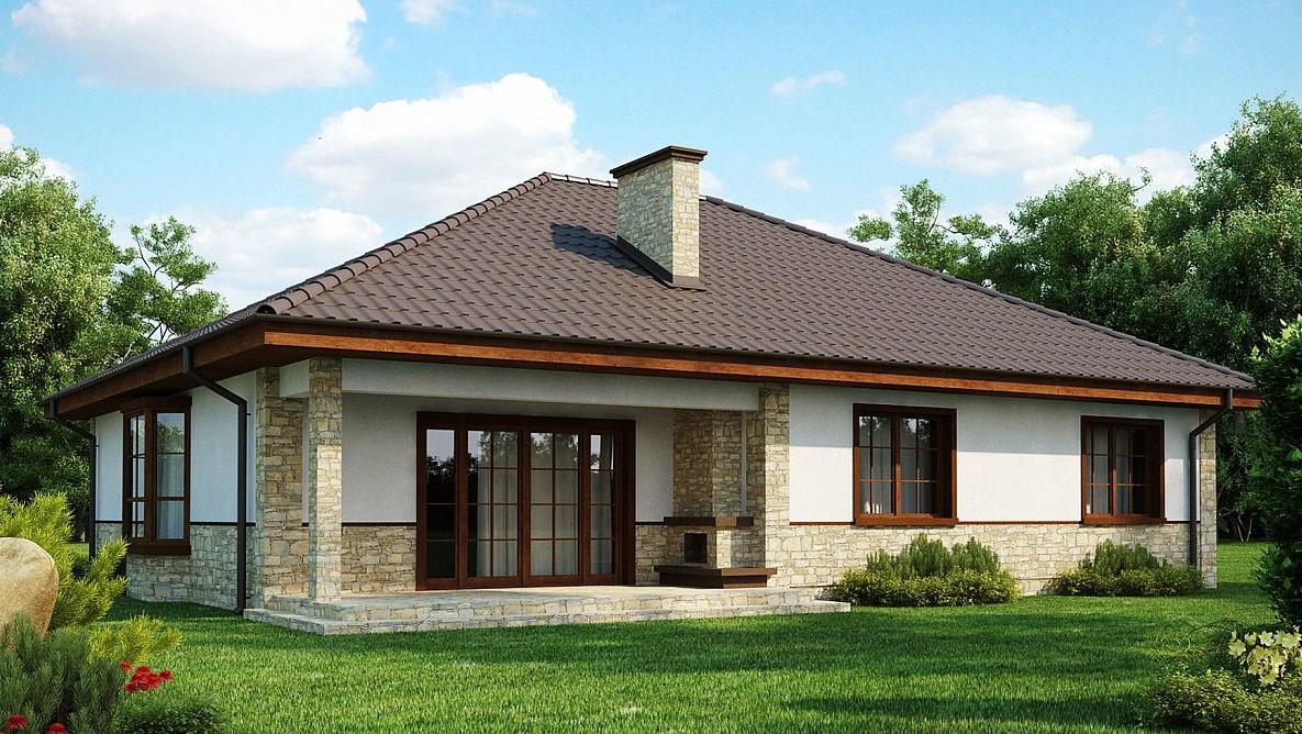 Одноэтажный дом из газобетона 140м
