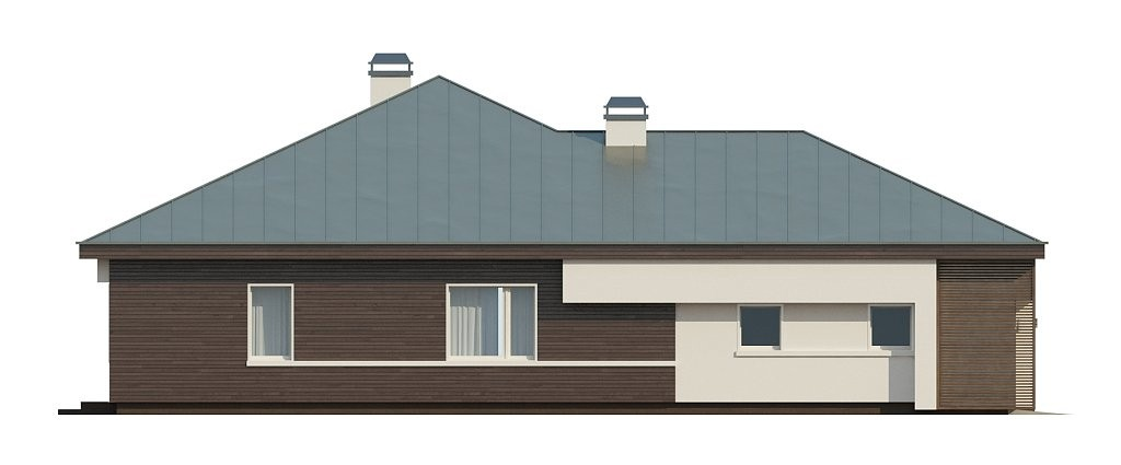 Одноэтажный коттедж из газобетона 171м