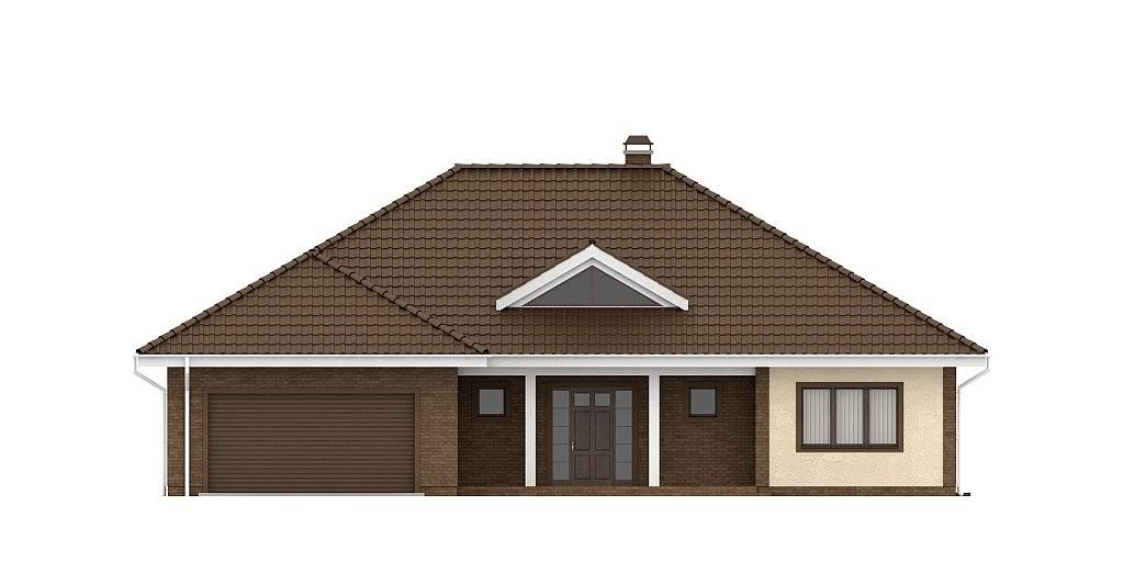 Одноэтажный коттедж из керамического блока 220м