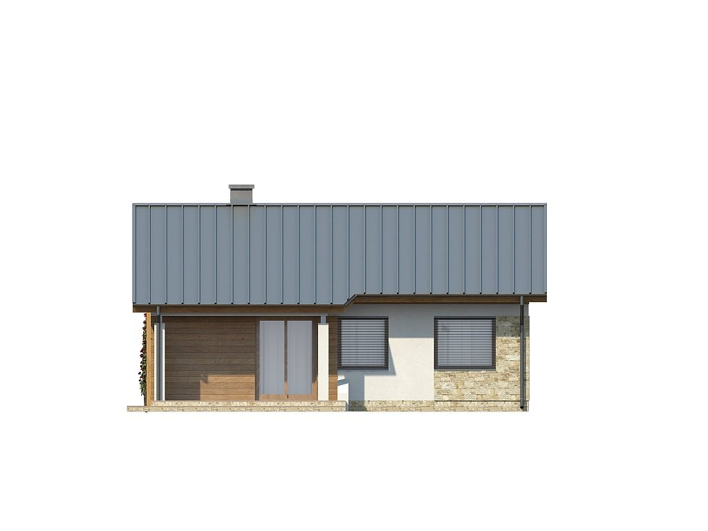 Одноэтажный дом из газобетона 70м
