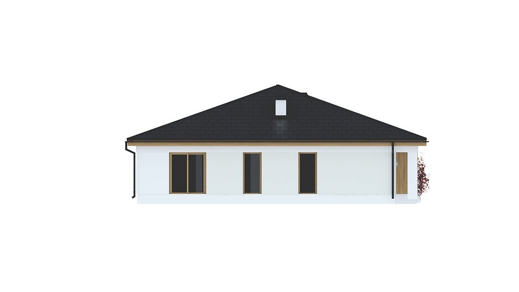Одноэтажный коттедж из газобетона 180м