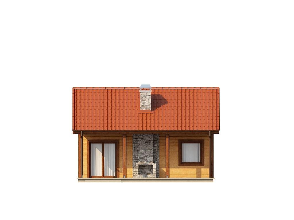 Одноэтажный дом из газобетона 37м