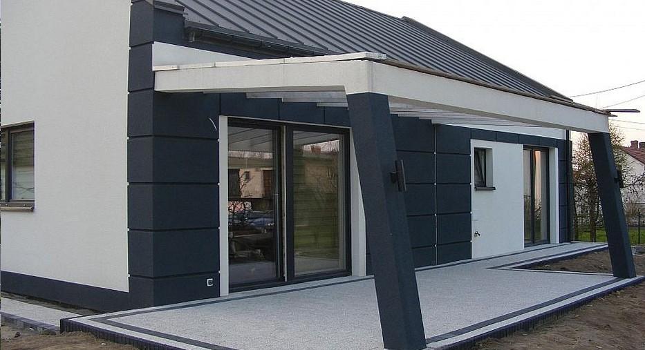 Одноэтажный дом из газобетона 96м с террасой