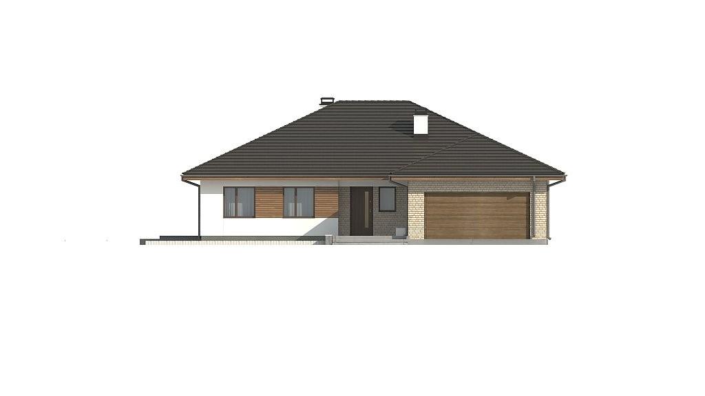 Одноэтажный дом из газобетона 220м с террасой