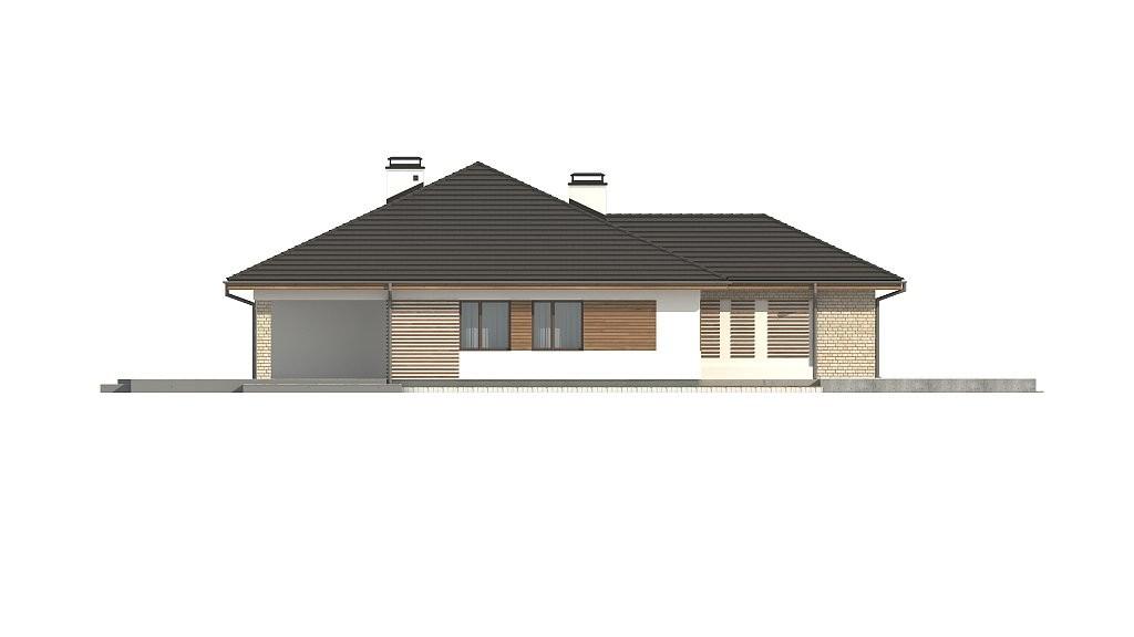 Одноэтажный коттедж из керамического блока 220м с террасой
