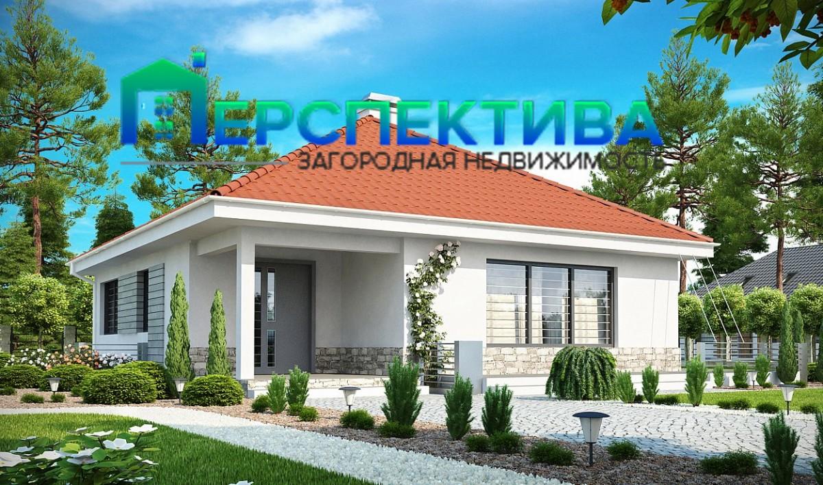 Одноэтажный дом из керамического блока 104м
