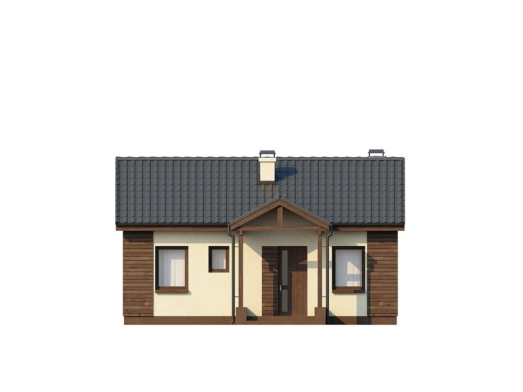 Одноэтажный дом из газобетона 59м