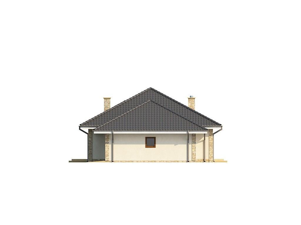 Одноэтажный коттедж из газобетона 166м