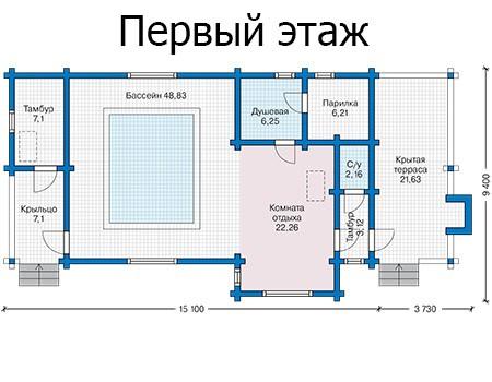 Баня 95м