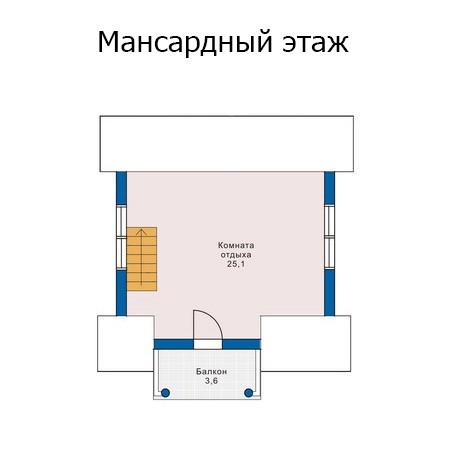Баня с мансардой 62м