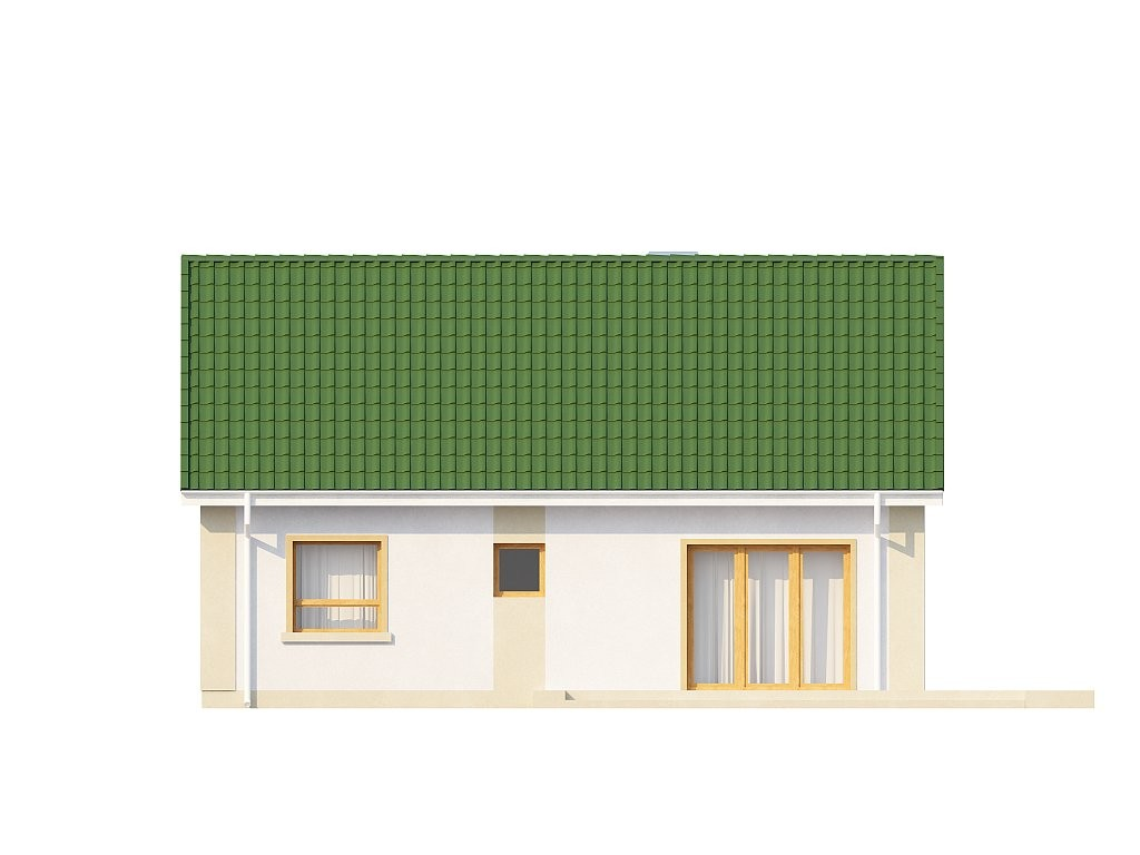 Одноэтажный дом из газобетона 69м