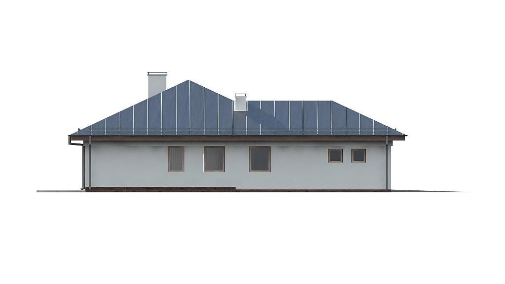 Одноэтажный коттедж из газобетона 176м