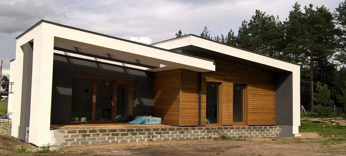 Одноэтажный дом из керамического блока 83м
