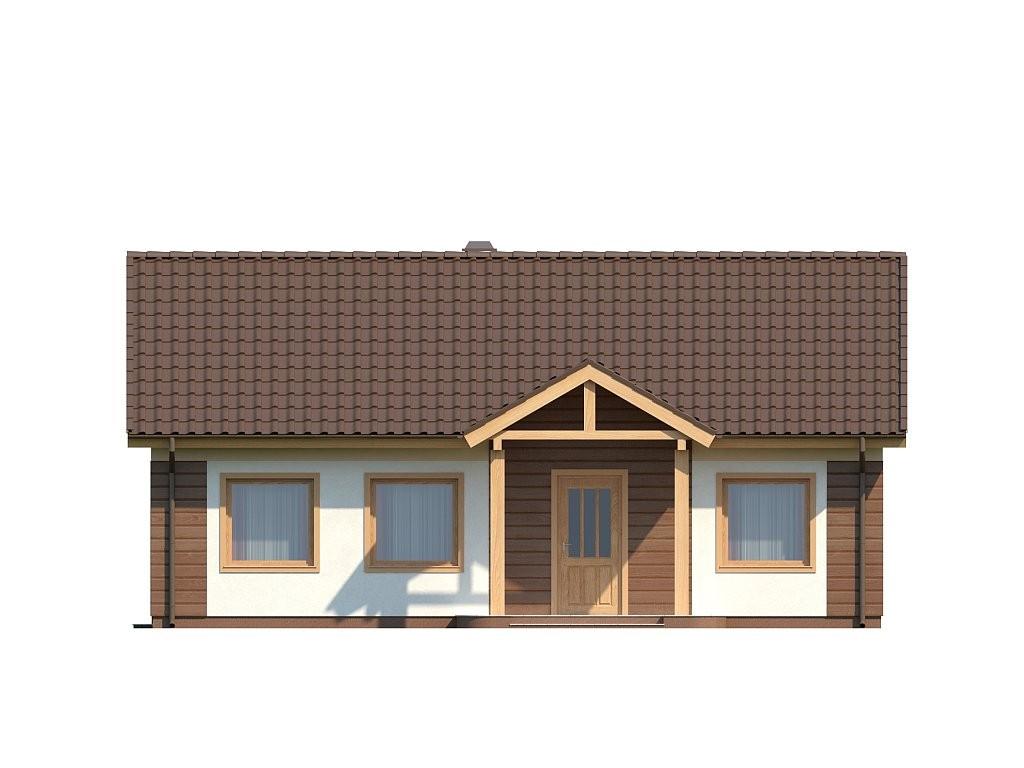 Одноэтажный дом из газобетона 92м