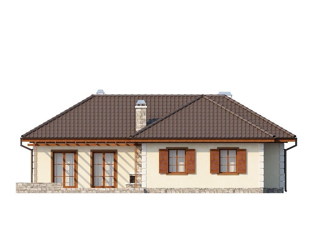 Одноэтажный дом из керамического блока 125м