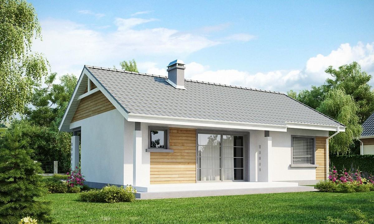 Одноэтажный дом из керамического блока 71м