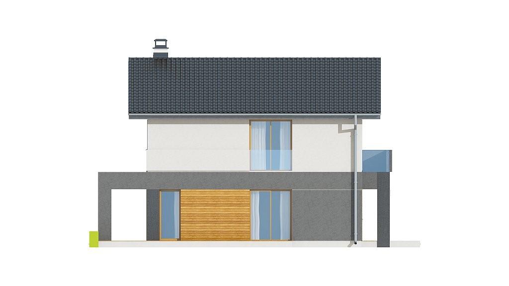 Двухэтажный дом из газобетона 102м