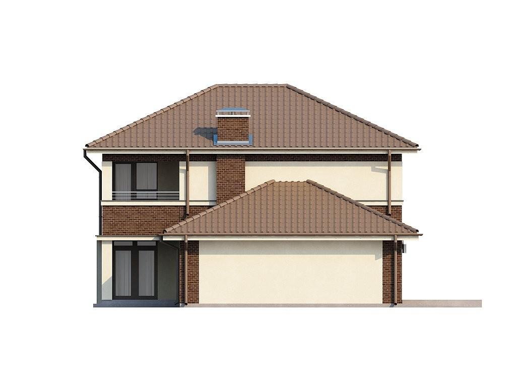 Двухэтажный коттедж из керамического блока 164м