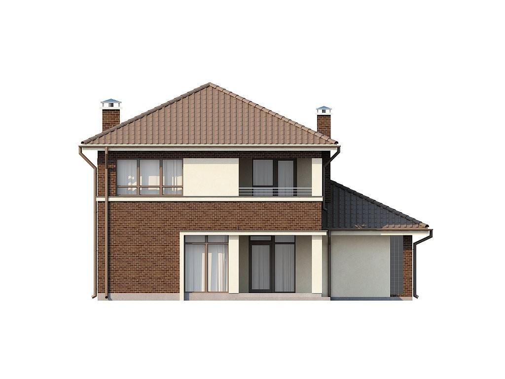 Двухэтажный коттедж из газобетона 164м