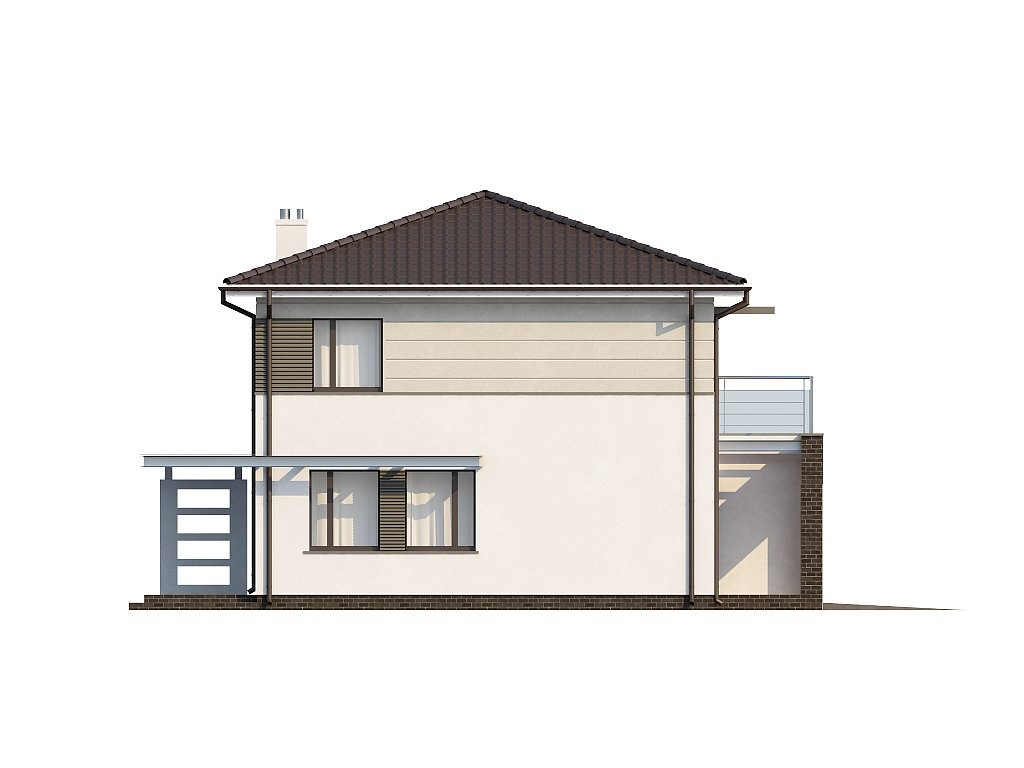 Двухэтажный дом из газобетона 212м