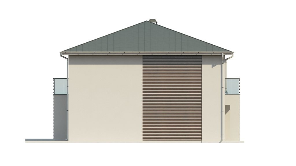 Двухэтажный коттедж из газобетона 180м