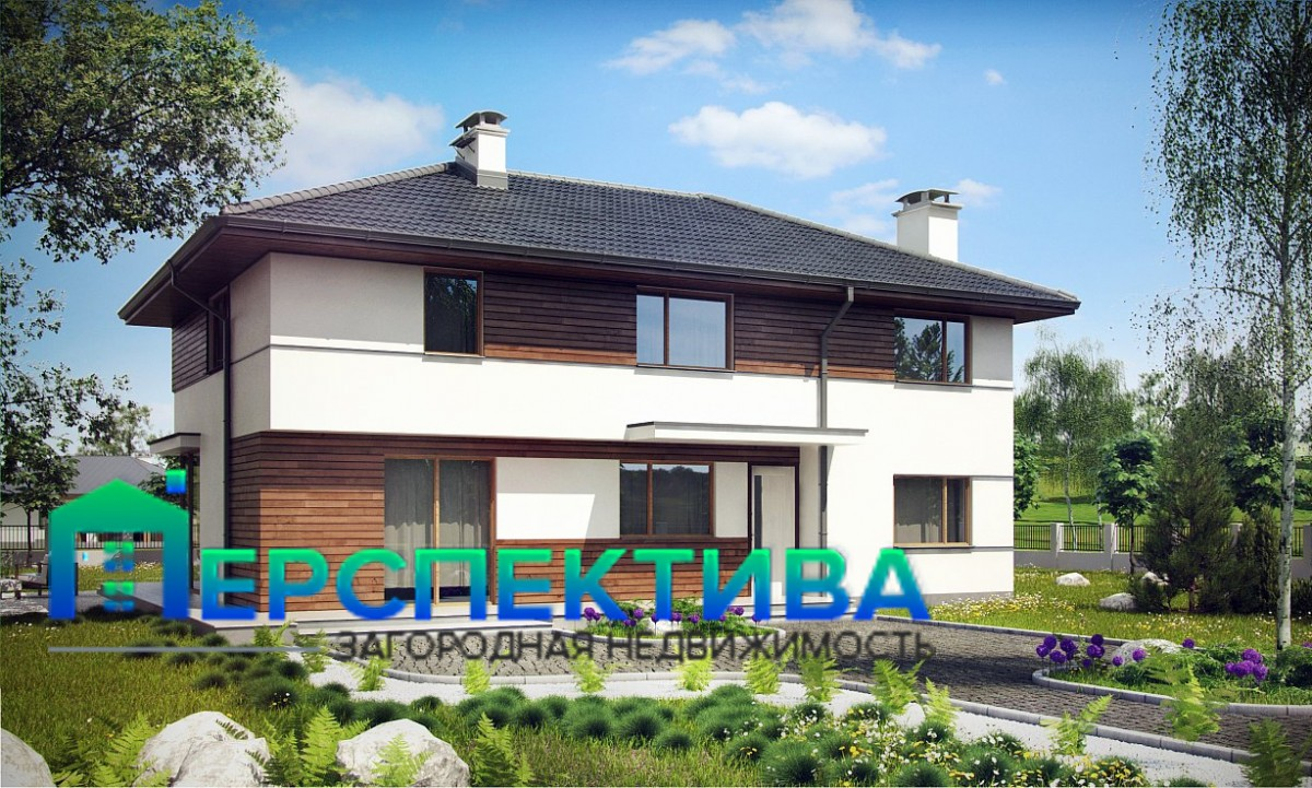 Двухэтажный дом из керамического блока 181м