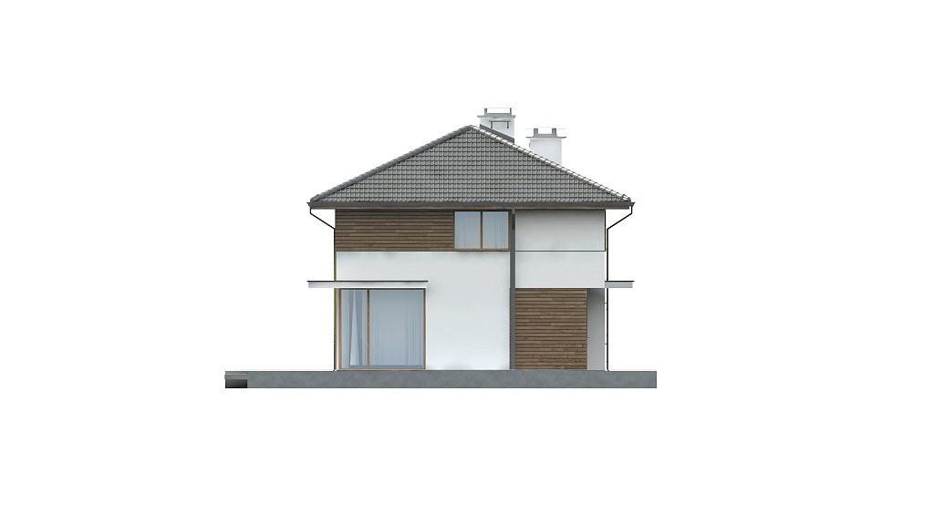 Двухэтажный коттедж из газобетона 181м