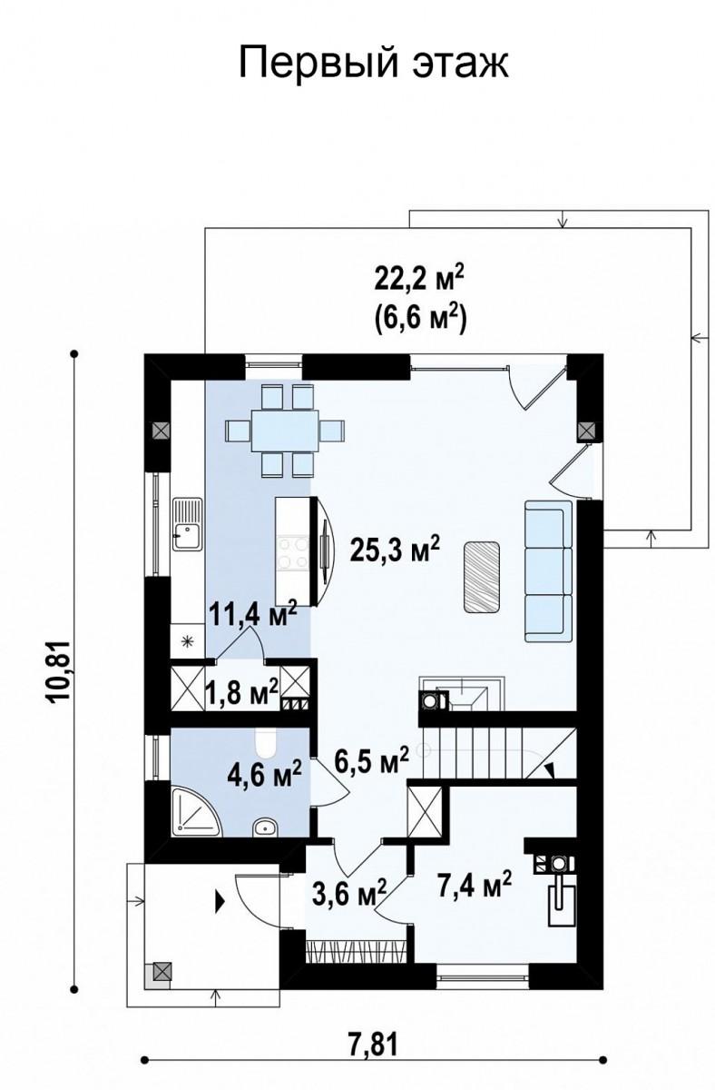 Двухэтажный дом из керамического блока 122м