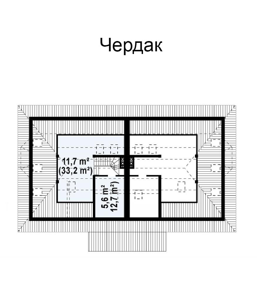 Коттедж из керамического блока 223м, 2 этажа