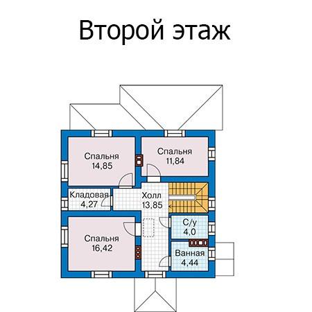 Двухэтажный дом из кирпича 144м
