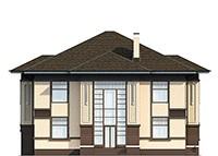 Двухэтажный дом из кирпича 269м