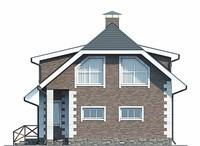 Дом с мансардой из кирпича 96м