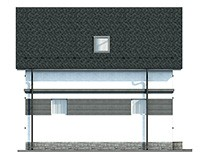 Дом с мансардой из газобетона 115м